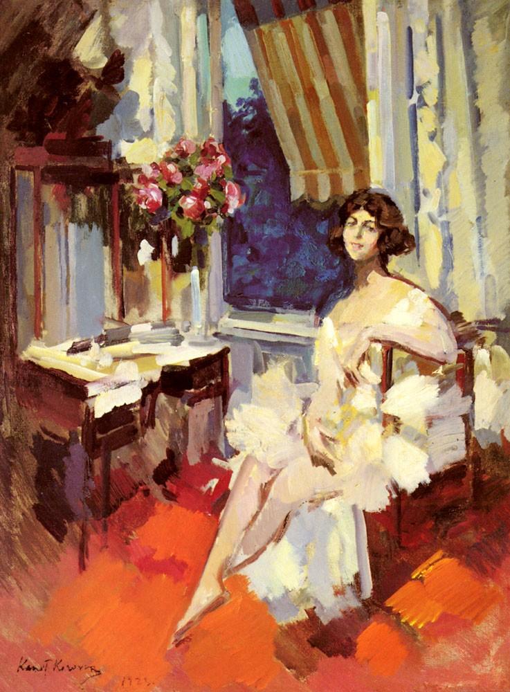 A Ballerina in her Boudoir, 1923, Kontantin Korovin